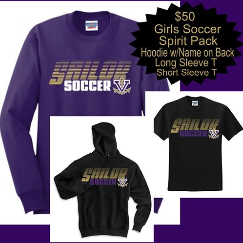 Girls Soccer Spirit Pack