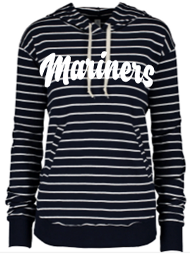 Mariner Ladies Stripe French Terry Hoodie