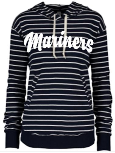 Mariner Ladies Stripe French Terry Hoodie