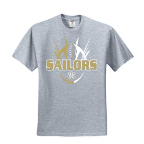 Football Spike Short or Long Sleeve Basic Unisex or Youth Sailor T-Shi