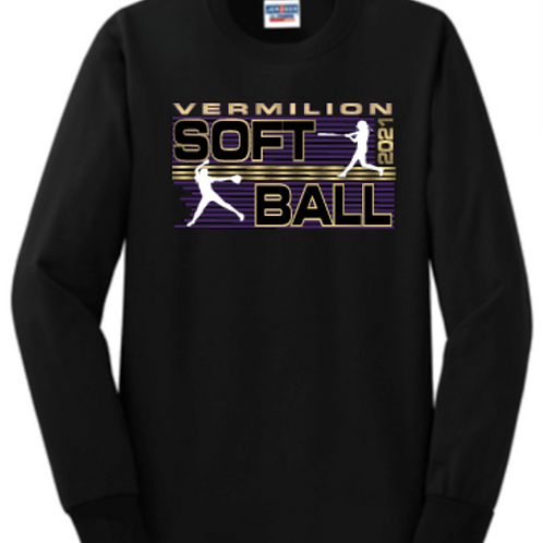 Long Sleeve Lines Softball Basic Unisex or Youth Sailor