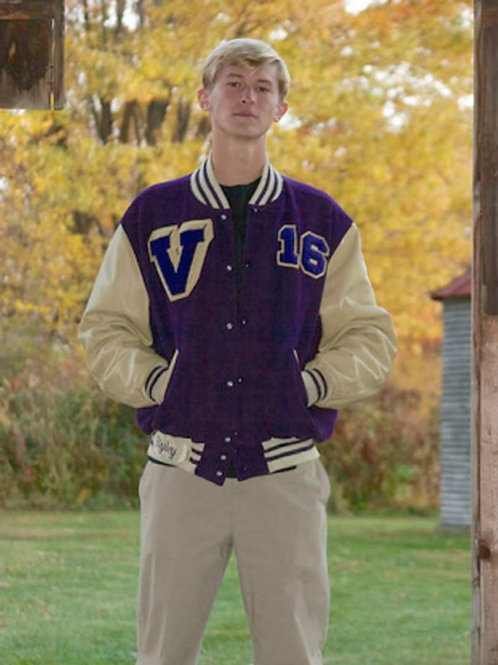 Vermilion  Varsity Jacket