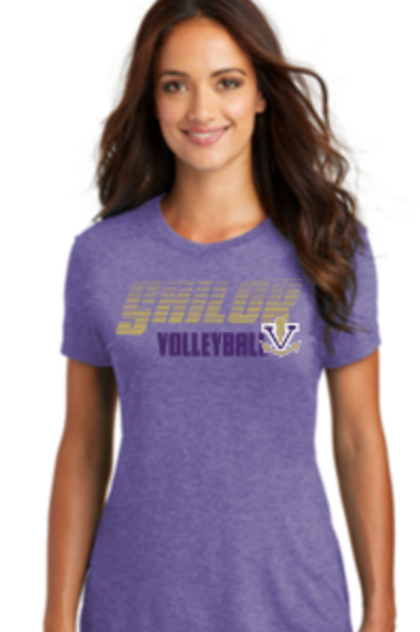 Volleyball Premium Tri Blend Ladies V-Neck or Crew T 50 DM130L/1350L