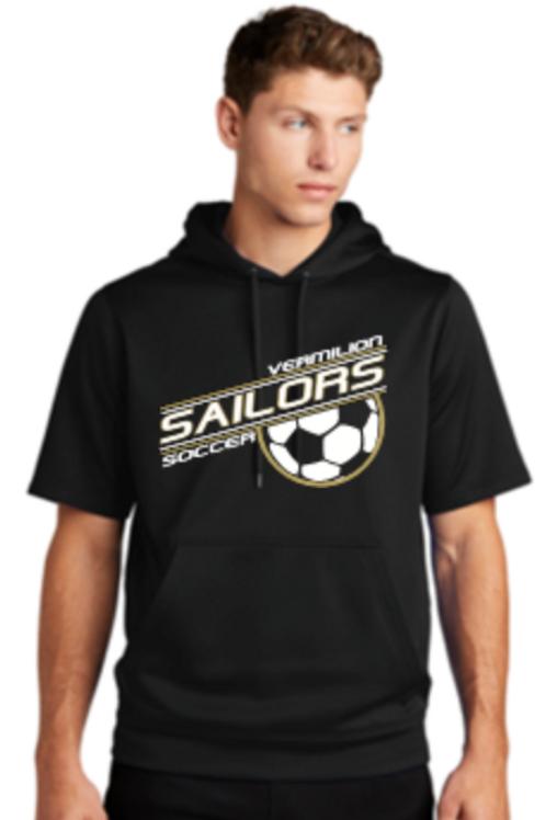 Soccer Performance Short Sleeve Fleece Hoodie