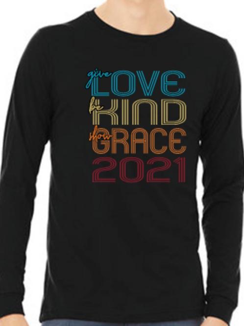 Love, Kind, Grace Tri Blend Long Sleeve T