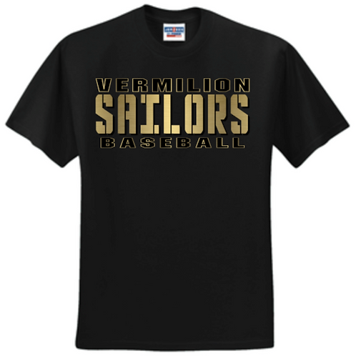 Gold 2021 Baseball Basic Unisex or Youth Sailor Gold Logo