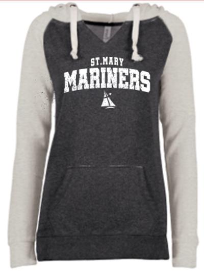 Mariner Ladies Garment Washed Fleece Hoodie