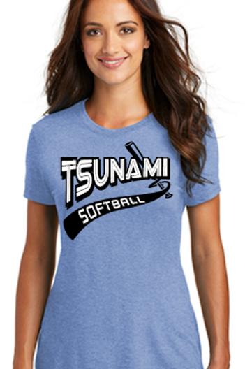 TSUNAMI Ladies Tri Blend crew neck t-shirt
