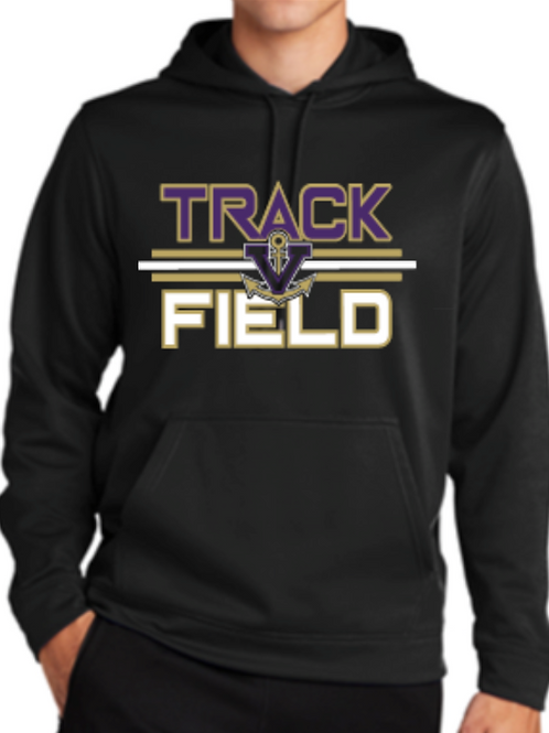 Performance Hoodie Track  Unisex or Youth Sailor Gold Logo