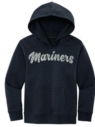 Youth Navy Hoodie Glitter