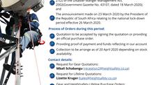 COVID-19 Notice: