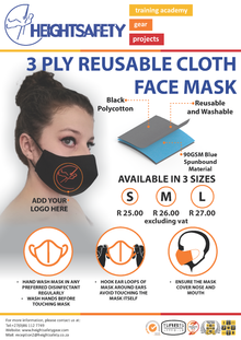 3 Ply Reusable Cloth Face Mask