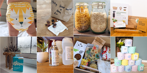Montage of swaps made for a more sustainable lifestyle