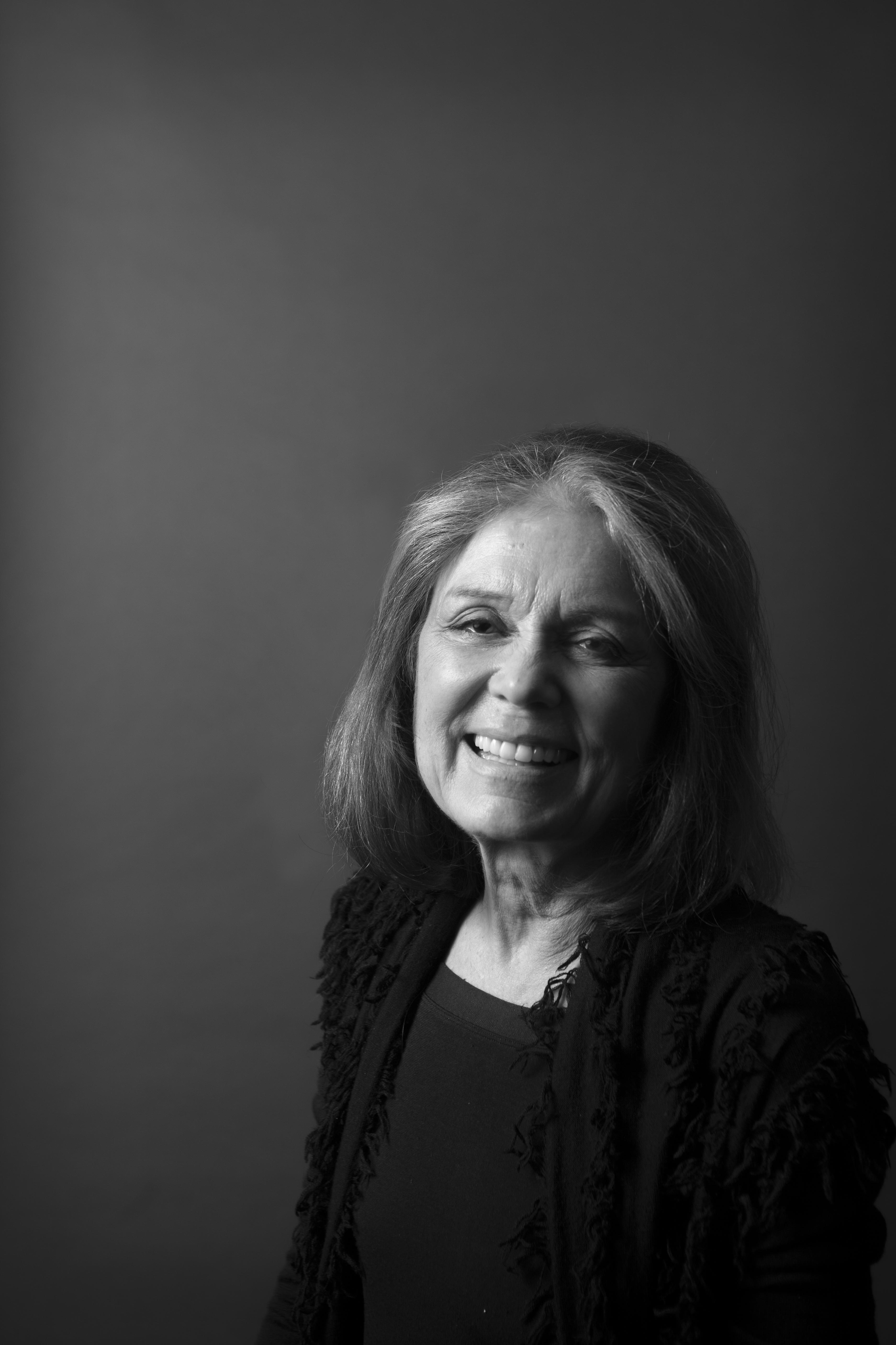 Gloria Steinem BW Portrait