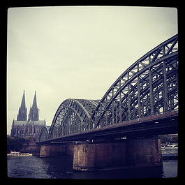 Koln Cologne Germany Bridge Cathedral