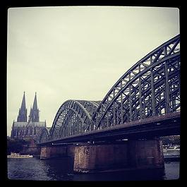 Koln Cologne Germany Bridge Cathedral