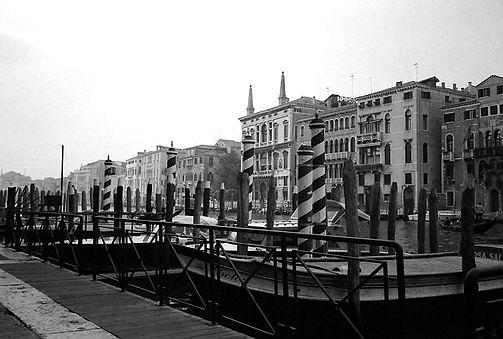 Venice Italy Boat Dock Grand Canal