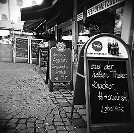 Munich Germany Cafe Signs Specials Boards Food
