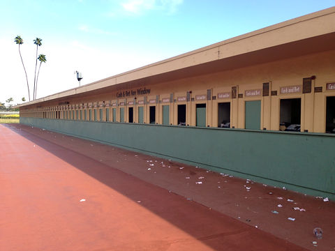 Betting is over, Santa Anita Racetrack, CA, USA