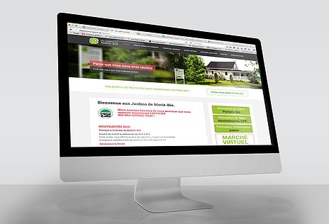Les Jardins de Marie-Bio / Site WordPress