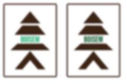 Télésérie Les honorables / Réalisation d'un logo (cour à bois)