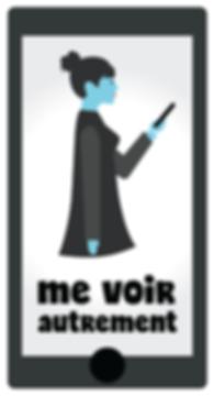 Sphère Média / R.-C. / Cerebrum / Visuel de la campagne Me voir autrement (mise en abîme)