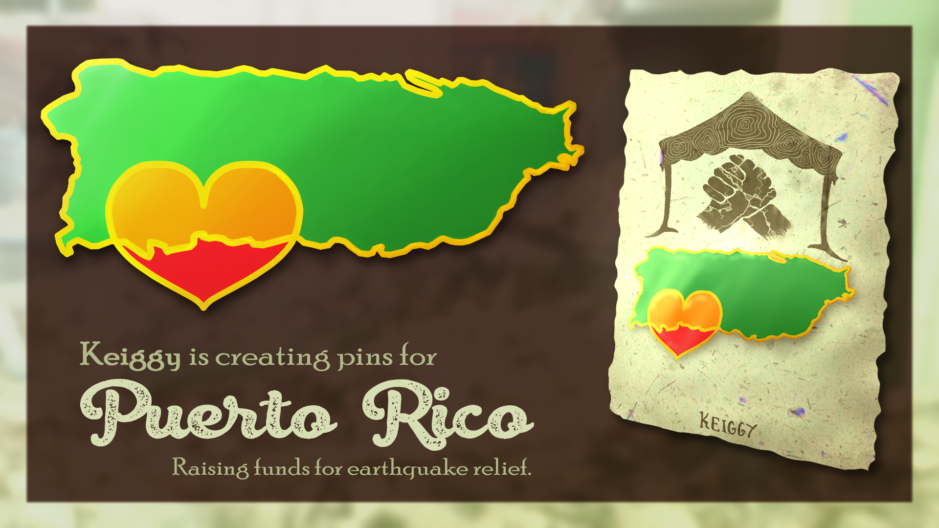 Pins for Puerto Rico Banner (2020)