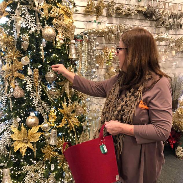 Tammy Arranging a Tree