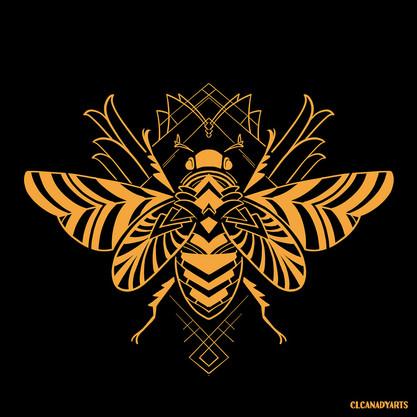 deco scarab art