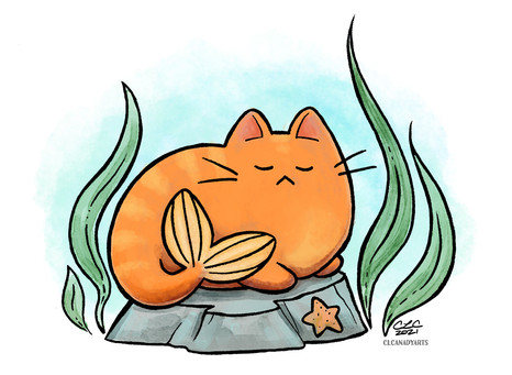 sleepy meowmaid clcanadyarts sm.jpg