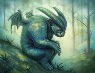 Shy Gargoyle