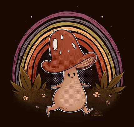 rainbow shroom clcanadyarts