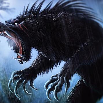 Werebear in the rain