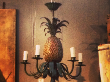 Pineapples spotted at the Decorative Antique and Textiles Fair