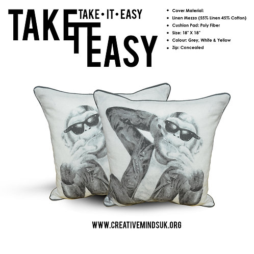 Take It Easy - Cushions - White