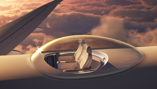 Wind-speed Technologies Create A Airplane Where Passengers Get A 360 View Of Outside While Flying!