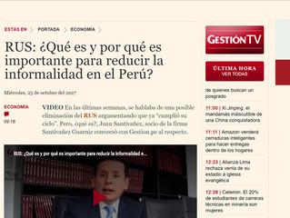 Juan Santivañez comentando sobre el RUS y su importancia para reducir la informalidad en el Perú