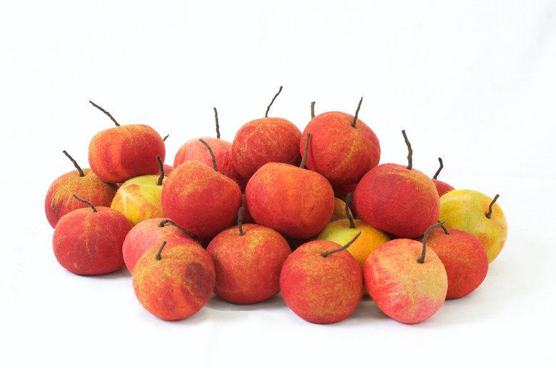 Filtede æbler - små kunstværker inspireret af naturen