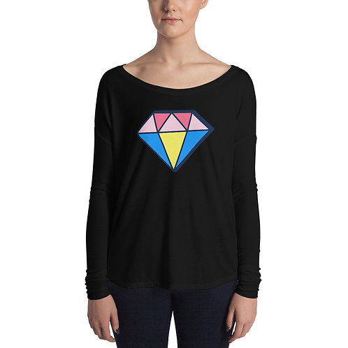 Diamante Ladies' Long Sleeve Tee
