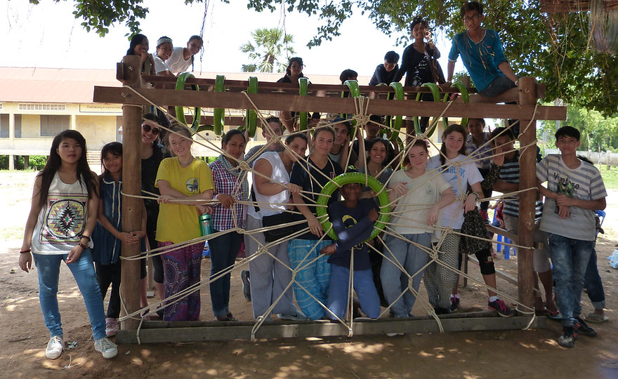 Building a playground with Millbrook volunteers in rural Cambodia