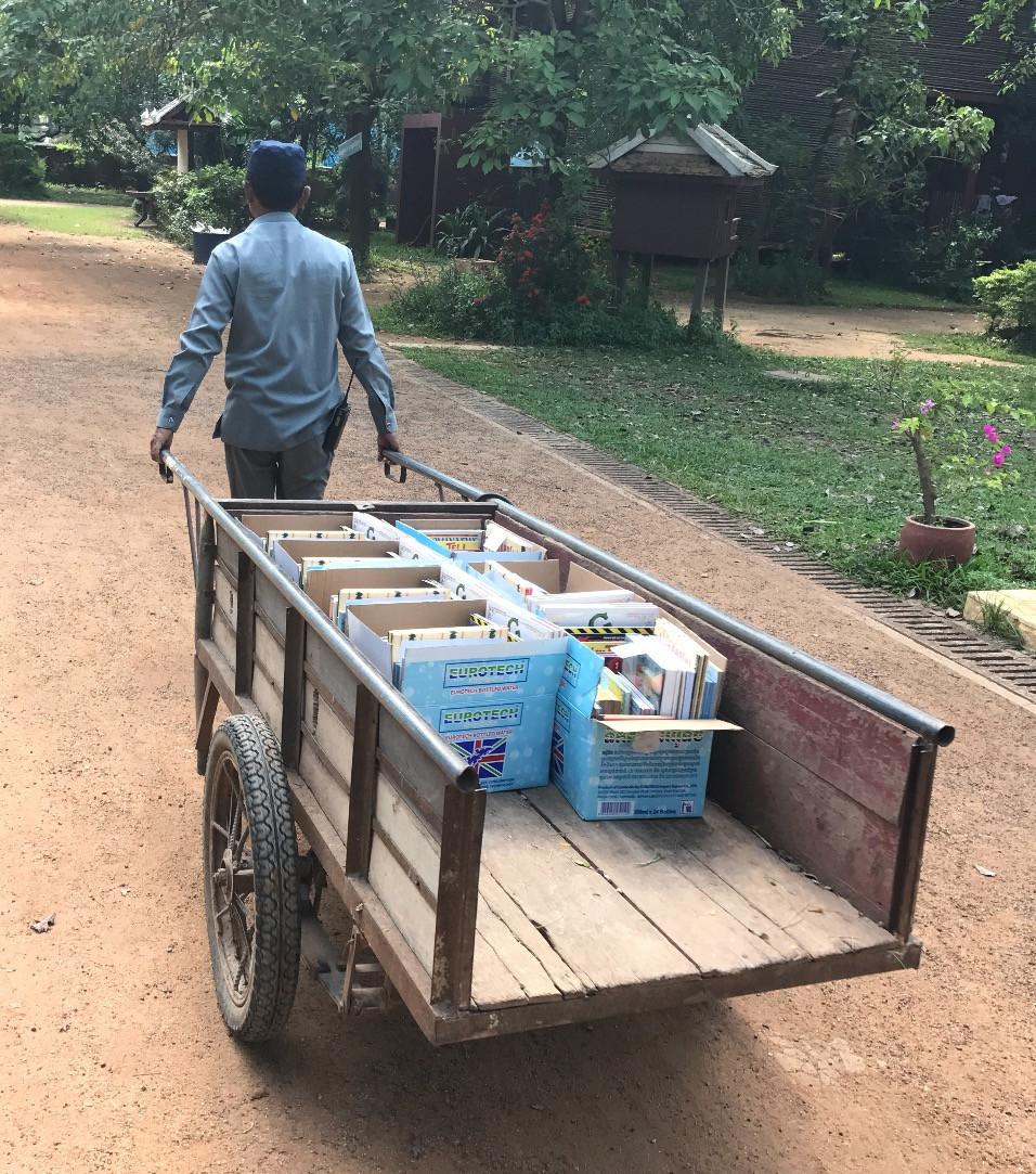 Moving Books Cambodia Style