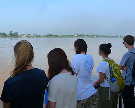 Travelling along the Mekong in Cambodia