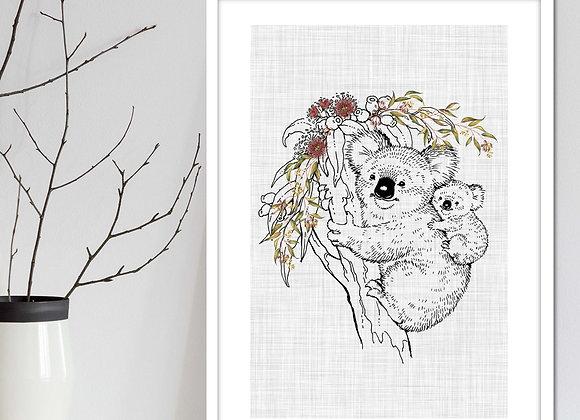 Australian animal nursery art digital download koala
