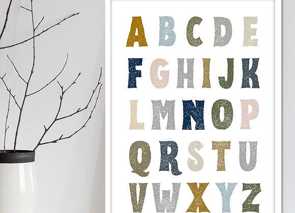nursery alphabet digital art download