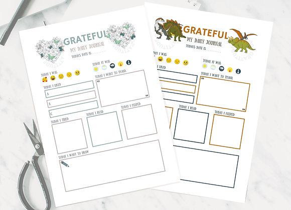 kids gratitude journal digital download