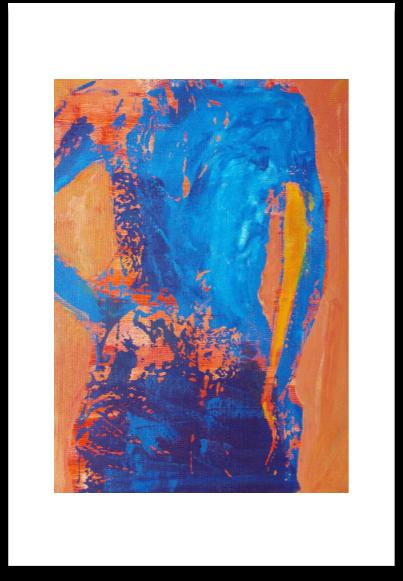 BLUE STUDY  -  ART PAPER