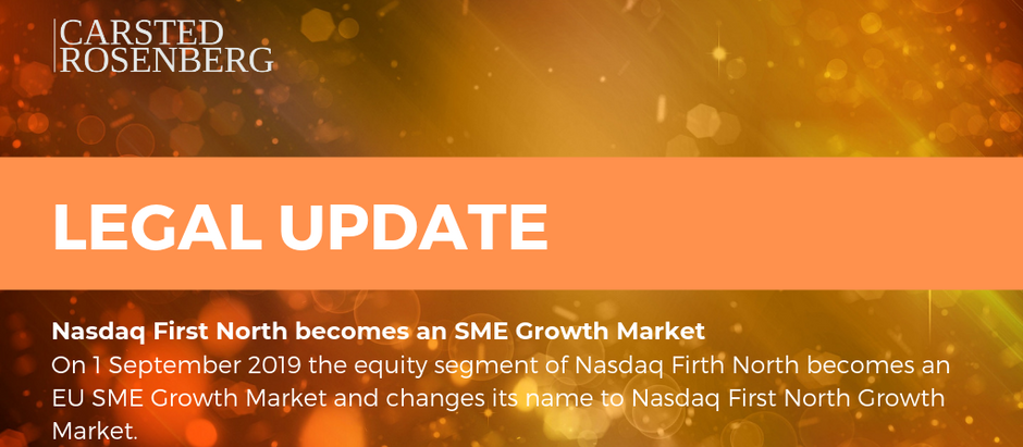 Nasdaq First North becomes an SME Growth Market