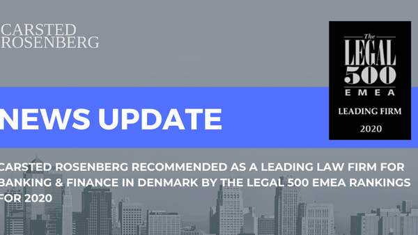 Carsted Rosenberg Recommended as a Leading Law Firm in Denmark