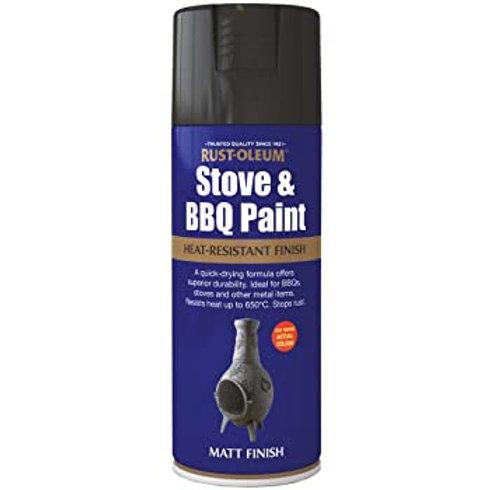 Stove & BBQ Paint Black Matt