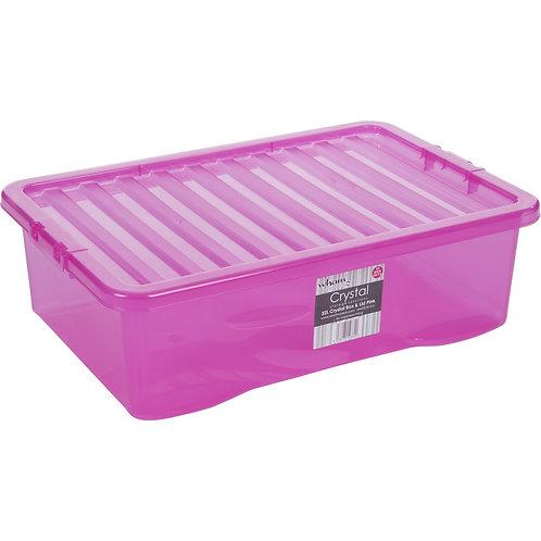 Crystal U/bed Box & Lid Tint Pink
